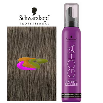 schwarzkopf coloration mousse semi permanente 8 1 blond clair cendre 100ml - Colorations Semi Permanentes