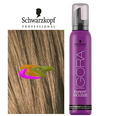 schwarzkopf coloration mousse semi permanente 7 5 blond moyen dor 100ml - Coloration Blond Moyen