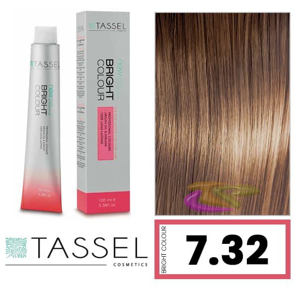 tassel coloration bright colour avec de lhuile dargan et de la kratine n732 blond moyen beige 100 ml oxydant offert 03980 - Coloration Blond Moyen