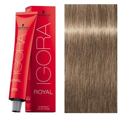 schwarzkopf coloration igora royal mettallics 716 blond moyen cendre marron 60 ml - Coloration Igora Royal