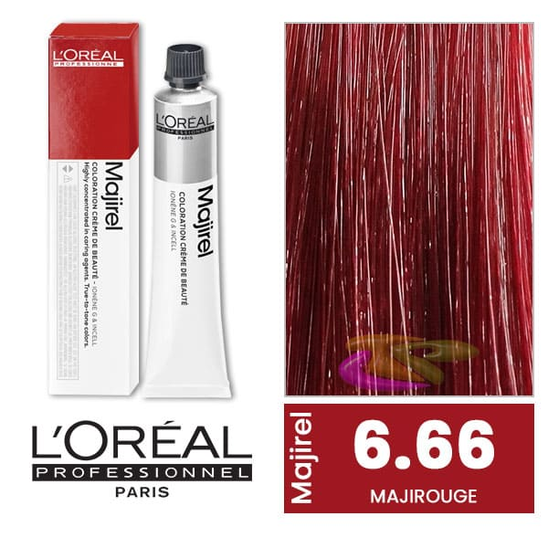 coloration majirouge blond fonc rouge intense 50 ml l or al 6 60. Black Bedroom Furniture Sets. Home Design Ideas