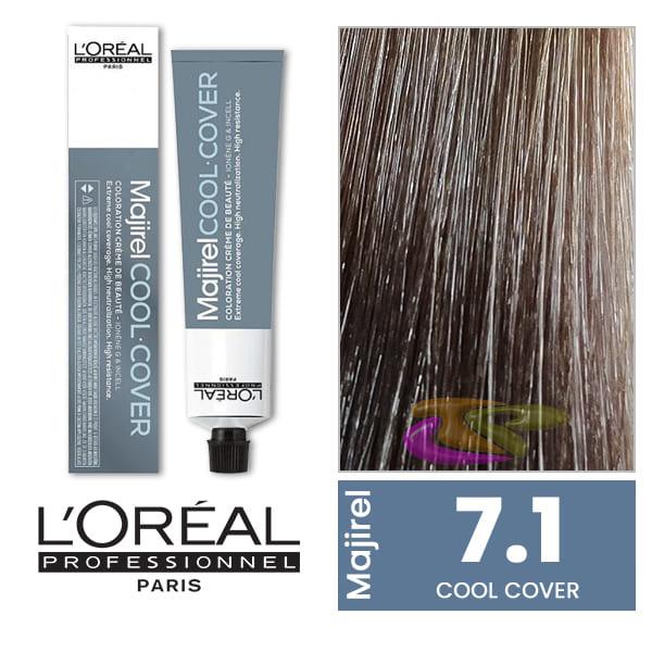 Coloration Majirel Cool Cover 71 Blond Cendre 50 Ml Loréal 585