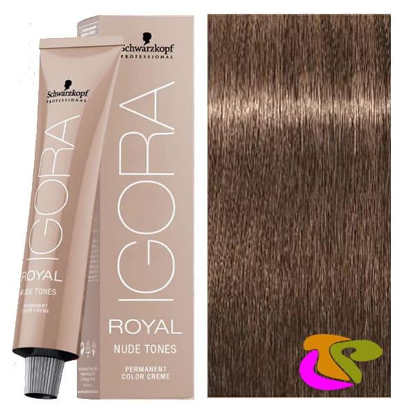 Igora Royal Nude 746 Dye Blond Mi Brun Foncé Beige 60 Ml