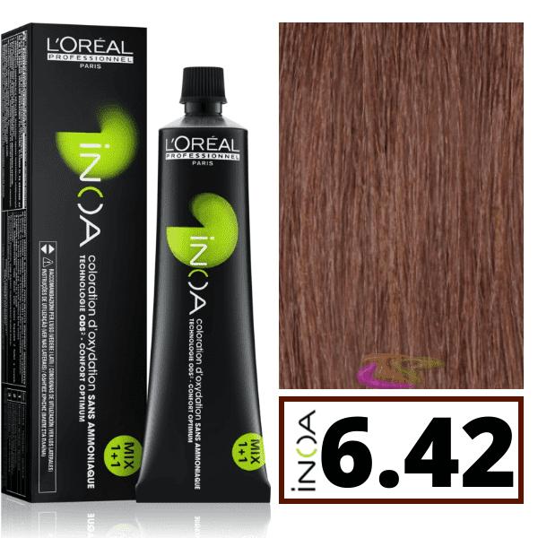 Inoa Colorant Sans Ammoniaque 6 42 Irise Cuivre Blond Fonce 60 Ml L Oral 6 10