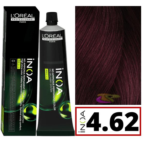 Inoa Colorant Sans Ammoniaque C4 62 Carmilane Castao Irise Rouge 60 Ml L Oral 6 10