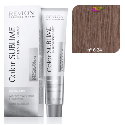 Revlon - Revlonissimo COLOR SUBLIME Dye (sans ammoniaque) 6.24 Dark Brown  Copper Pearl 75 ml